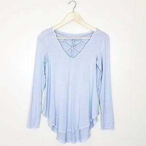 American Eagle Soft & Sexy Caged Strappy Tee